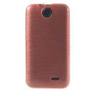 Gélové kartáčované puzdro pre HTC Desire 310- svetloružové - 2