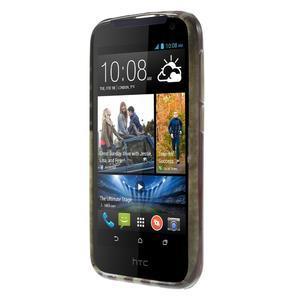 Gélové puzdro na HTC Desire 310- USA vlajka - 2
