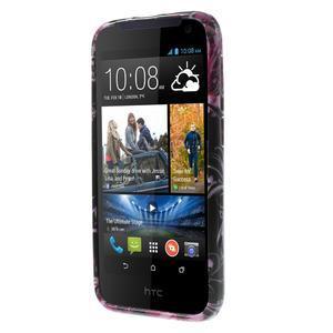 Gélové puzdro na HTC Desire 310- motýlci - 2