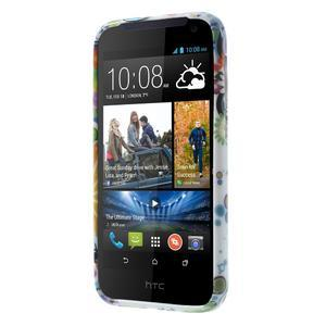 Gélové puzdro na HTC Desire 310- farebné květy - 2