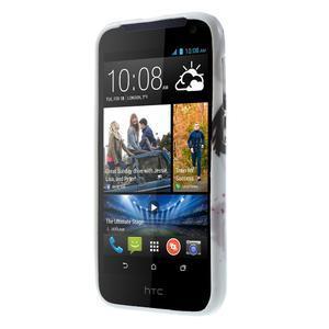Gélové puzdro na HTC Desire 310- fialový květ - 2
