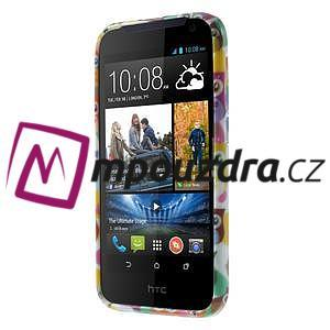 Gélové puzdro na HTC Desire 310- farebné sovy - 2