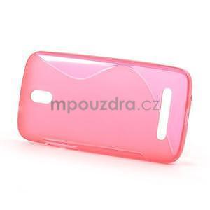 Gélové puzdro pre HTC Desire 500- růžové - 2