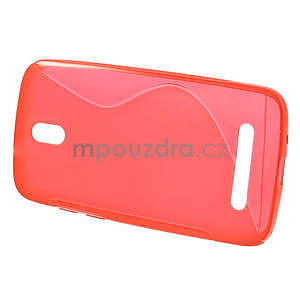 Gélové puzdro pre HTC Desire 500- červené - 2