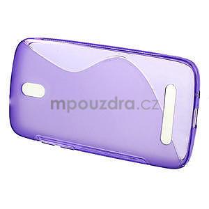 Gélové puzdro pre HTC Desire 500- fialové - 2