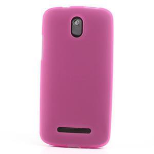 Gélové matné puzdro pre HTC Desire 500- růžové - 2