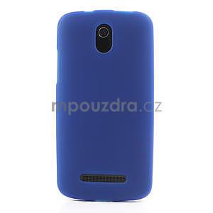 Gélové matné puzdro pre HTC Desire 500- modré - 2