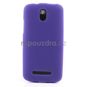 Gélové matné puzdro pre HTC Desire 500- fialové - 2