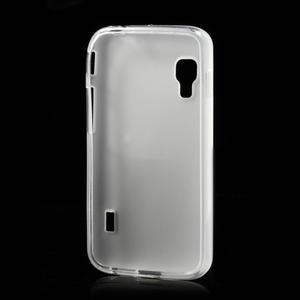 Matné gélové puzdro pre LG Optimus L5 Dual E455- biele - 2