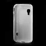 Matné gélové puzdro pre LG Optimus L5 Dual E455- biele - 2/4