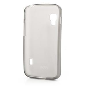 Matné gélové puzdro pre LG Optimus L5 Dual E455- šedé - 2