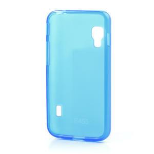 Matné gélové puzdro pre LG Optimus L5 Dual E455- modré - 2