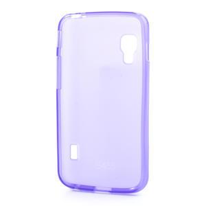 Matné gélové puzdro pre LG Optimus L5 Dual E455-fialová - 2