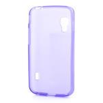 Matné gélové puzdro pre LG Optimus L5 Dual E455-fialová - 2/4