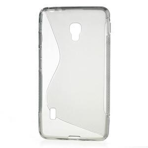 Gélové S-line puzdro na LG Optimus F6 D505- šedé - 2