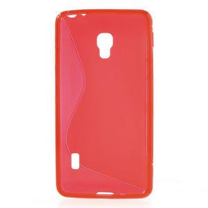 Gélové S-line puzdro na LG Optimus F6 D505- červené - 2