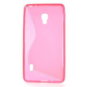 Gélové S-line puzdro pre LG Optimus F6 D505- ružové - 2