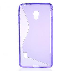 Gélové S-line puzdro na LG Optimus F6 D505- fialové - 2