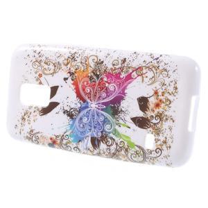 Gélové puzdro pre Samsung Galaxy S5 mini G-800- farebný motýl - 2