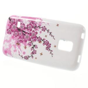 Gelové pouzdro na Samsung Galaxy S5 mini G-800- kvetoucí větvička - 2
