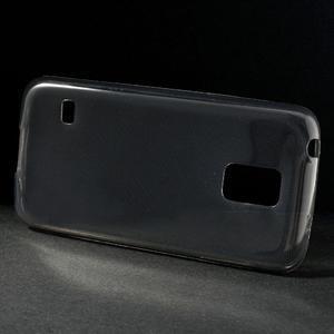 Gelové 0.6mm pouzdro na Samsung Galaxy S5 mini G-800- šedé - 2