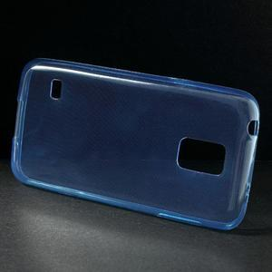 Gélové 0.6mm puzdro pre Samsung Galaxy S5 mini G-800- modré - 2