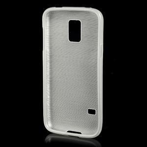 Kartáčové pouzdro na Samsung Galaxy S5 mini G-800- bílé - 2