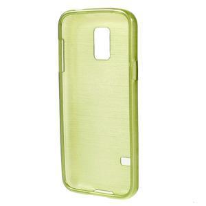 Kartáčové puzdro pre Samsung Galaxy S5 mini G-800- zelené - 2
