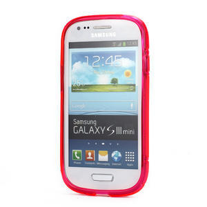 Růžové gélové puzdro pre Samsung Galaxy S3 mini / i8190 - 2
