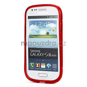 Červené gélové puzdro pre Samsung Galaxy S3 mini / i8190 - 2