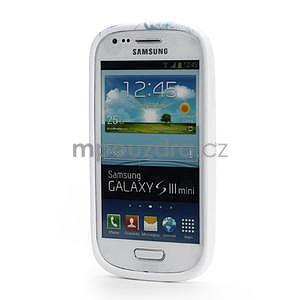 Bílé gélové puzdro pre Samsung Galaxy S3 mini / i8190 - vzor Lily - 2