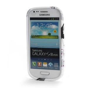 Gélové puzdro na Samsung Galaxy S3 mini i8190- fialový květ - 2