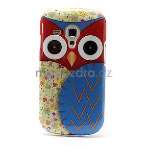 Gélové puzdro pre Samsung Galaxy S3 mini / i8190 - modrá Sova - 2