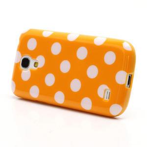 Gélový Puntík pro Samsung Galaxy S4 mini i9190- oranžové - 2