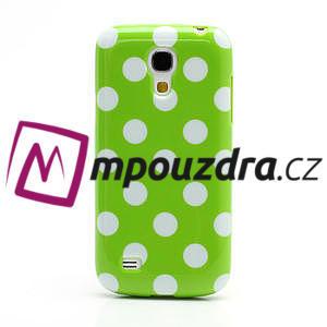 Gelový Puntík pro Samsung Galaxy S4 mini i9190- zelené - 2
