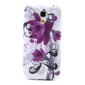 Gélové puzdro pro Samsung Galaxy S4 mini i9190- fialové kvety - 2