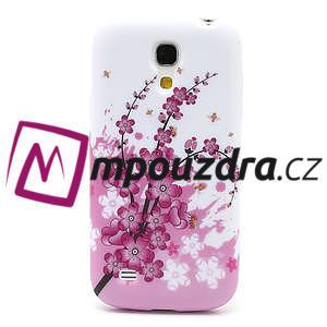 Gelové pouzdro pro Samsung Galaxy S4 mini i9190- kvetoucí větvička - 2