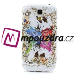 Gélové puzdro pro Samsung Galaxy S4 mini i9190- farebný motýl - 2