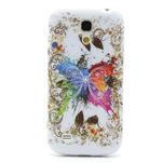 Gélové puzdro pro Samsung Galaxy S4 mini i9190- farebný motýl - 2/5