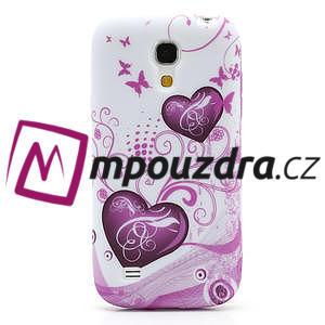 Gélové puzdro pro Samsung Galaxy S4 mini i9190- dve srdca - 2