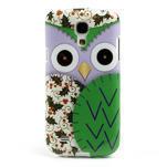 Gélové puzdro pre Samsung Galaxy S4 mini i9190- sova zelená - 2/5