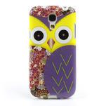 Gélové puzdro pre Samsung Galaxy S4 mini i9190- sova fialová - 2/5