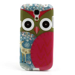 Gelové pouzdro na Samsung Galaxy S4 mini i9190- sova červená - 2