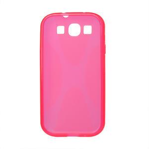 Gélové puzdro pro Samsung Galaxy S3 i9300 - X-line ružové - 2
