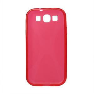 Gélové puzdro pro Samsung Galaxy S3 i9300 - X-line červené - 2