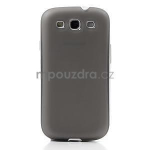 Gélové rámované puzdro pre Samsung Galaxy S3 i9300- šedé - 2