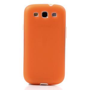 Gélové rámované puzdro pre Samsung Galaxy S3 i9300- oranžové - 2
