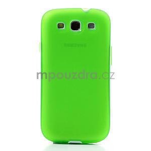 Gelové rámované pouzdro na Samsung Galaxy S3 i9300- zelené - 2
