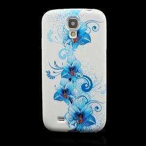 Gelové pouzdro pro Samsung Galaxy S4 i9500- modrá Lilie - 2