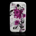 Gélové puzdro pro Samsung Galaxy S4 i9500- kvetové puzdro - 2/7